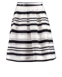 Falda campana de rayas horizontales blanca de Esprit