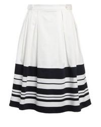 Falda campana de rayas horizontales blanca de mint&berry