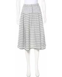 Falda campana de rayas horizontales gris