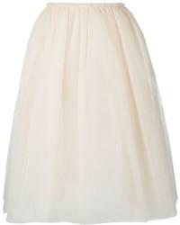 Falda campana de tul en beige de Golden Goose Deluxe Brand