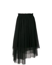 Falda campana de tul negra de MSGM