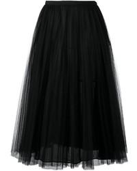 Falda campana de tul negra de Valentino