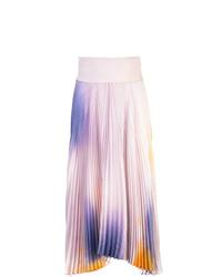 Falda campana efecto teñido anudado violeta claro de A.L.C.
