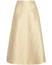 Falda campana en beige de The Row