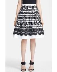 Falda campana en negro y blanco