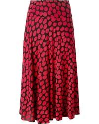 Falda campana estampada roja de Missoni