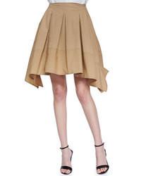 Falda campana marrón claro