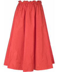 Falda campana naranja de Kenzo