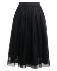 Falda campana negra de Roberto Collina