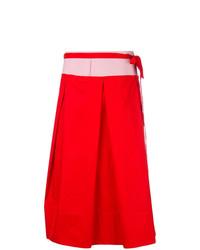 Falda campana roja de Marni