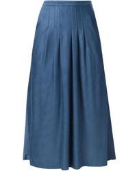 Falda campana vaquera azul