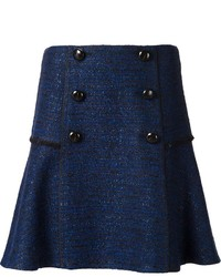 Falda con botones azul marino de Proenza Schouler