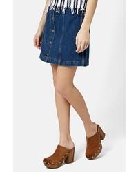 Falda con botones azul original 11336847