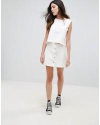 Falda con botones blanca de Daisy Street