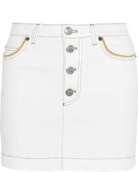 Falda con botones blanca de Sonia Rykiel