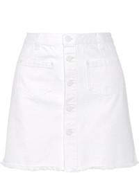 Falda con botones blanca de SteveJ & YoniP