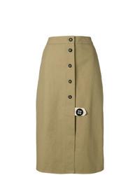 Falda con botones marrón claro de Walk Of Shame