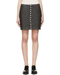 Falda con botones negra