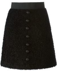 Falda con botones negra de Dolce & Gabbana
