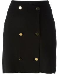 Falda con botones negra de Maison Margiela
