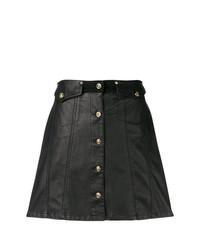 Falda Con Botones Negra de Versace Jeans
