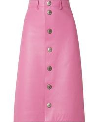Falda con botones rosa