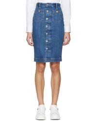 Falda con botones vaquera azul de Dsquared2