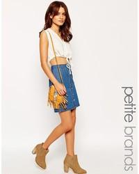 Falda con botones vaquera azul de Vero Moda