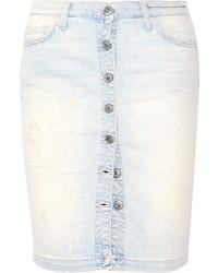 Falda con botones vaquera original 11337016