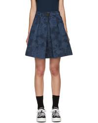 Falda con print de flores azul de Kenzo