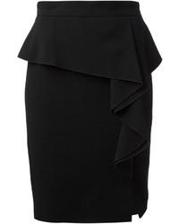 Falda con volante negra de Emilio Pucci