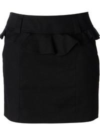 Falda con volante negra de RED Valentino