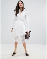 Falda de encaje blanca de French Connection