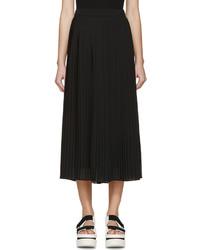 Falda de gasa plisada negra de Kenzo