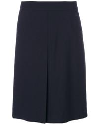 Falda de lana azul marino de Etro