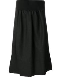 Falda de lana negra de Jil Sander