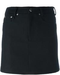 Falda de lana negra de MM6 MAISON MARGIELA