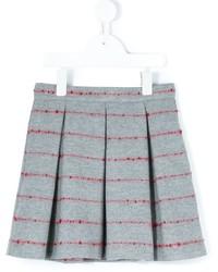 Falda de lana plisada gris de Il Gufo