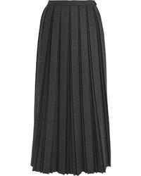Falda de lana plisada negra de Golden Goose Deluxe Brand