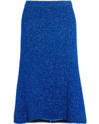 Falda de punto azul de Balenciaga