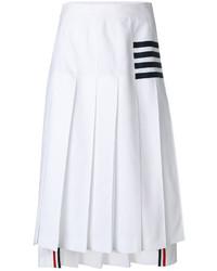 Falda de rayas horizontales blanca de Thom Browne