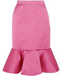 Falda de satén rosa de J.Crew