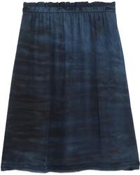 Falda de seda azul marino de Raquel Allegra