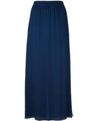 Falda de seda plisada azul marino de Emporio Armani