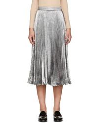 9e90101899 Comprar una falda plisada plateada  elegir faldas plisadas plateadas ...