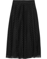 Falda de tul a lunares negra de J.Crew