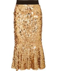 Comprar una falda dorada de NET-A-PORTER.COM  elegir faldas doradas ... 65844079d926