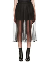 9a3591eead Givenchy Falda larga de tul negra de Givenchy Agotado · Falda de tul negra  de Givenchy