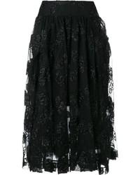Falda de tul negra de Simone Rocha