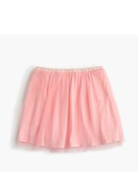 Falda de tul rosada
